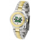 Marshall Thundering Herd Competitor Ladies Watch with Two-Tone Band