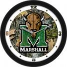 """Marshall Thundering Herd 12"""" Camo Wall Clock"""