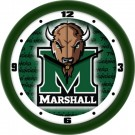 "Marshall Thundering Herd 12"" Dimension Wall Clock"