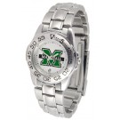 Marshall Thundering Herd Gameday Sport Ladies' Watch with a Metal Band