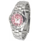 Marshall Thundering Herd Ladies Sport Watch with Steel Band and Mother of Pearl Dial