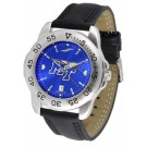 Middle Tennessee State Blue Raiders Sport AnoChrome Men's Watch with Leather Band