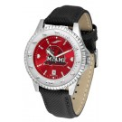 Miami (Ohio) RedHawks Competitor AnoChrome Men's Watch with Nylon/Leather Band