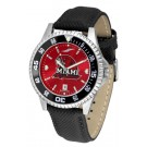 Miami (Ohio) RedHawks Competitor AnoChrome Men's Watch with Nylon/Leather Band and Colored Bezel