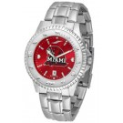 Miami (Ohio) RedHawks Competitor AnoChrome Men's Watch with Steel Band