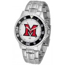 Miami (Ohio) RedHawks Competitor Watch with a Metal Band