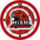 "Miami (Ohio) RedHawks 12"" Dimension Wall Clock"