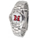Miami (Ohio) RedHawks Gameday Sport Ladies' Watch with a Metal Band