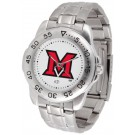 Miami (Ohio) RedHawks Sport Steel Band Men's Watch