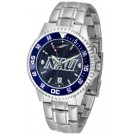 Northern Arizona (NAU) Lumberjacks Competitor AnoChrome Men's Watch with Steel Band and Colored Bezel