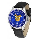 North Carolina A & T Aggies Competitor AnoChrome Men's Watch with Nylon/Leather Band and Colored Bezel