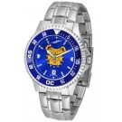 North Carolina A & T Aggies Competitor AnoChrome Men's Watch with Steel Band and Colored Bezel