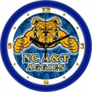 "North Carolina A & T Aggies 12"" Dimension Wall Clock"