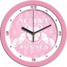 "North Carolina A & T Aggies 12"" Pink Wall Clock"