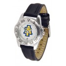 North Carolina A & T Aggies Ladies Sport Watch with Leather Band