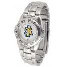 North Carolina A & T Aggies Gameday Sport Ladies' Watch with a Metal Band