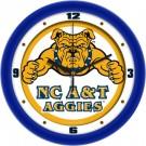 "North Carolina A & T Aggies Traditional 12"" Wall Clock"