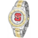 North Carolina State Wolfpack Competitor Two Tone Watch