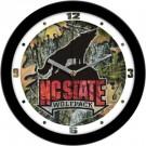 "North Carolina State Wolfpack 12"" Camo Wall Clock"