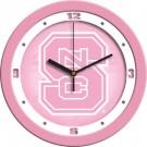 "North Carolina State Wolfpack 12"" Pink Wall Clock"