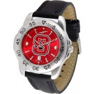 North Carolina State Wolfpack Sport AnoChrome Men's Watch with Leather Band