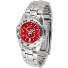 North Carolina State Wolfpack Sport AnoChrome Ladies Watch with Steel Band