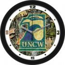 """North Carolina (Wilmington) Seahawks 12"""" Camo Wall Clock"""