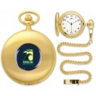 North Carolina (Wilmington) Seahawks Gold Pocket Watch