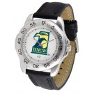 North Carolina (Wilmington) Seahawks Men's Sport Watch with Leather Band