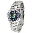 North Carolina (Wilmington) Seahawks Sport AnoChrome Ladies Watch with Steel Band