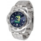 North Carolina (Wilmington) Seahawks Sport Steel Band Ano-Chrome Men's Watch