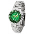 North Dakota State Bison Competitor AnoChrome Ladies Watch with Steel Band and Colored Bezel