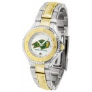 North Dakota State Bison Competitor Ladies Watch with Two-Tone Band