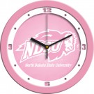 "North Dakota State Bison 12"" Pink Wall Clock"