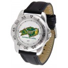 North Dakota State Bison Men's Sport Watch with Leather Band