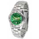 North Dakota State Bison Sport AnoChrome Ladies Watch with Steel Band