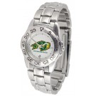 North Dakota State Bison Ladies Sport Watch with Stainless Steel Band