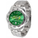 North Dakota State Bison Sport Steel Band Ano-Chrome Men's Watch