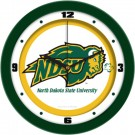 "North Dakota State Bison Traditional 12"" Wall Clock"