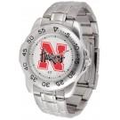 Nebraska Cornhuskers Sport Steel Band Men's Watch