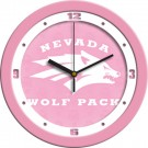 "Nevada Wolf Pack 12"" Pink Wall Clock"