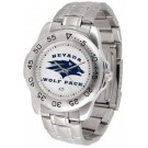 Nevada Wolf Pack Sport Steel Band Men's Watch