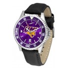 Northern Iowa Panthers Competitor AnoChrome Men's Watch with Nylon/Leather Band and Colored Bezel