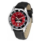 Las Vegas (UNLV) Runnin' Rebels Competitor AnoChrome Men's Watch with Nylon/Leather Band and Colored Bezel