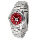 Las Vegas (UNLV) Runnin' Rebels Sport AnoChrome Ladies Watch with Steel Band