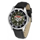 New Mexico Lobos Competitor AnoChrome Men's Watch with Nylon/Leather Band and Colored Bezel