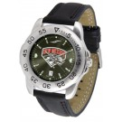 New Mexico Lobos Sport AnoChrome Men's Watch with Leather Band