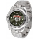 New Mexico Lobos Sport Steel Band Ano-Chrome Men's Watch