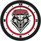 "New Mexico Lobos Traditional 12"" Wall Clock"