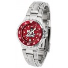 New Mexico State Aggies Competitor AnoChrome Ladies Watch with Steel Band and Colored Bezel